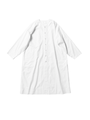 white cotton poplin rectangle coat