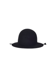 black rabbit and wool folding panama hat