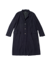 black navy cashmere long alvar coat
