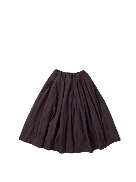 plum cotton full gathered elasticated flower skirt