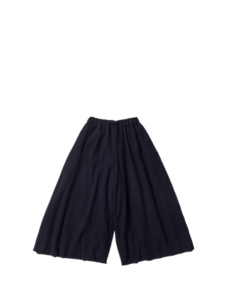 navy cashmere elasticated culotte wp trousers