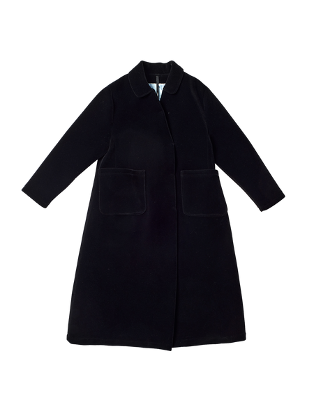 black velvet long coat