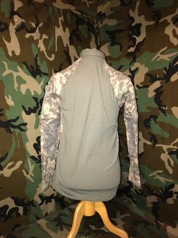 US Army Tactical Combat Shirt FLAME RESISTANT ACU Camo FROG MASSIF