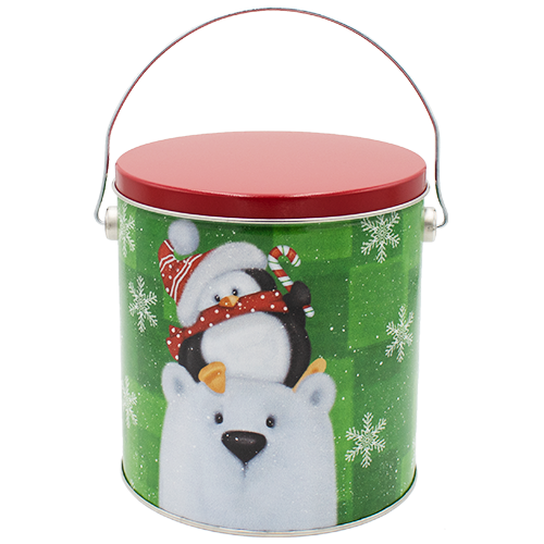 1 Gallon Christmas Tins Cold But Cozy Popcorn