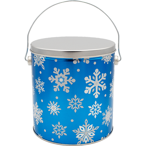 1 Gallon Christmas Tins Flurries Popcorn