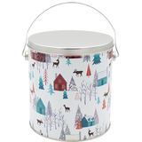 1 Gallon Christmas Tins Walk In The Woods Popcorn