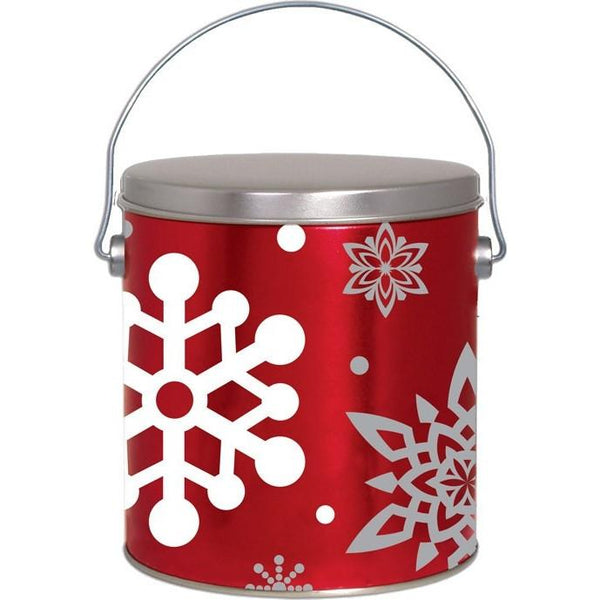 1 Gallon Christmas Tins Let It Snow Popcorn