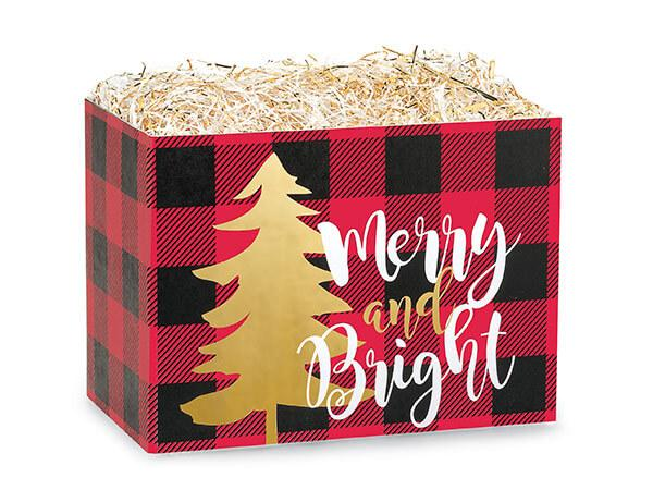 Large Christmas Quick Pick Gift Boxes Buffalo Plaid (Caramel Mix & Kettle)