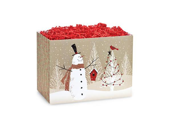 Small Christmas Quick Pick Gift Boxes Woodland Snowman (Caramel & Mix)