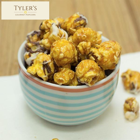 Double Drizzle (Salted Caramel With White & Milk Chocolate) Popcorn