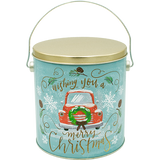 1 Gallon Christmas Tins Vintage Popcorn