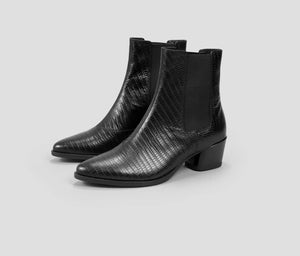 Lara Boot- Black Croc