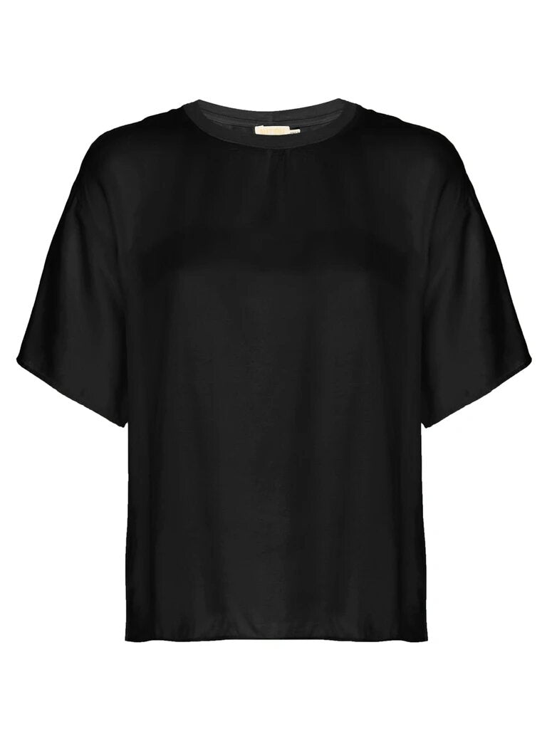 Allison Oversized Tee - Black