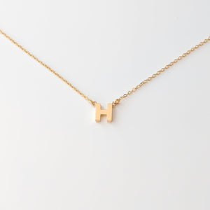 Initial Necklace- 14k