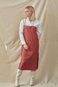 Leather Slipdress- Red Naplan