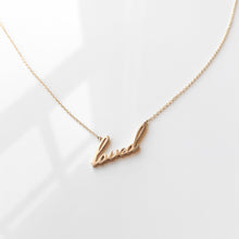 Loved Script Necklace