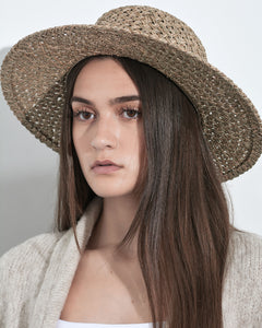 Colbie Woven Straw Boater