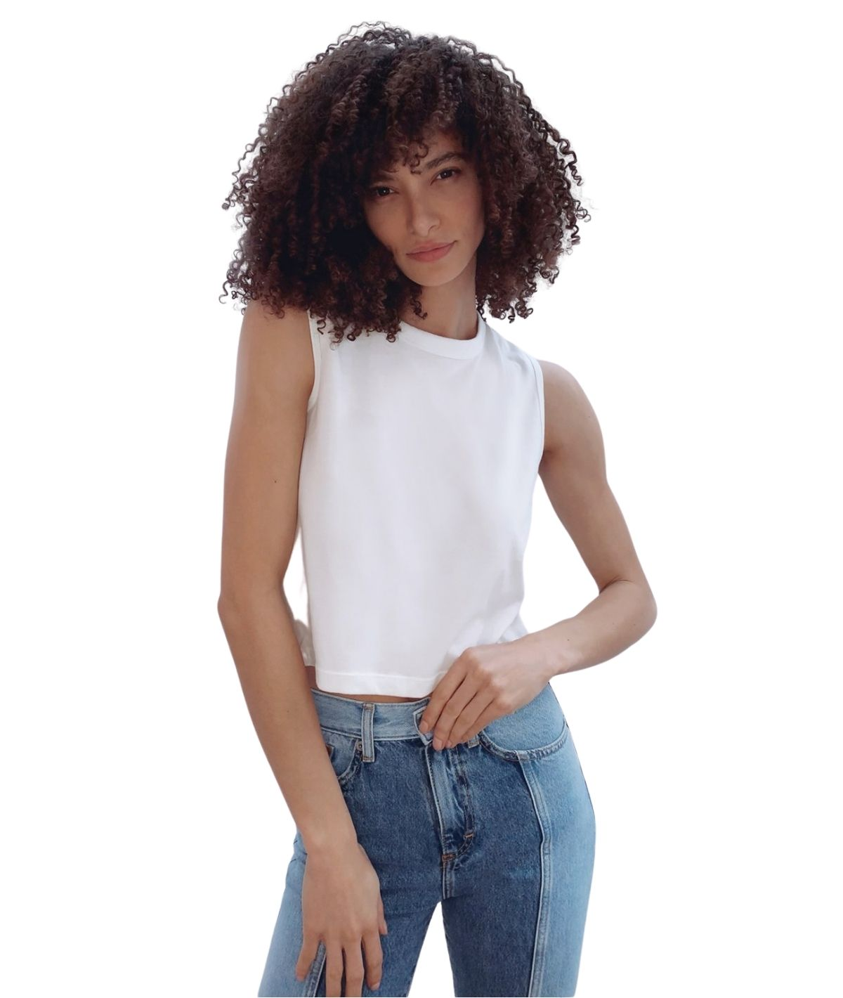 Organic Relaxed Tank Top - Summer White