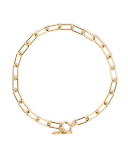 Zoe Toggle Chain Choker Necklace