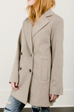 Double Breasted Notch Collar Wool Coat