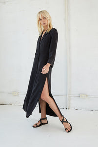 Move On Maxi Blazer- Black