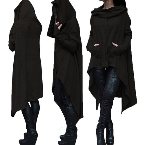 Oversized Asymmetric Pullover Hoodie