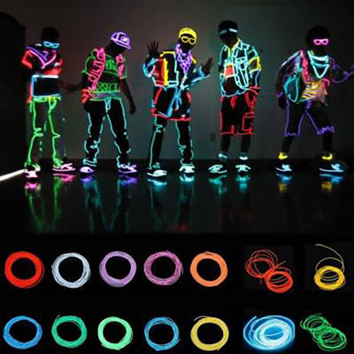 3m Neon Light Flexible EL Wire With Controller