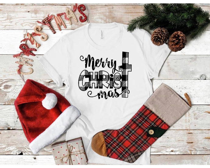 Merry Christmas Black print.