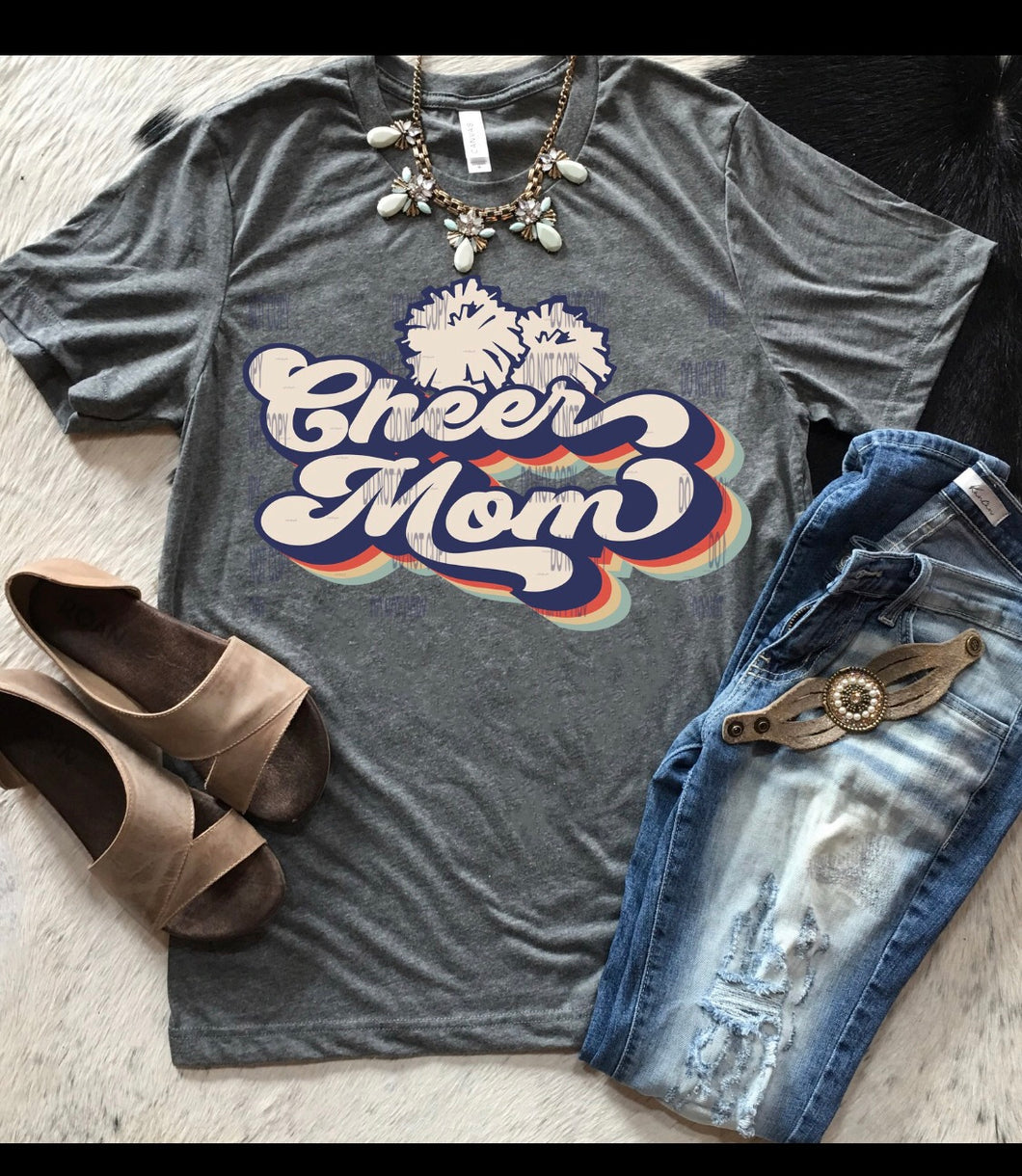 Retro Cheer Mom short sleeve