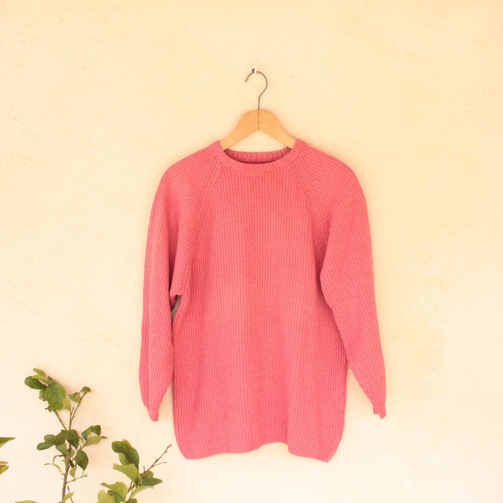 Vintage Pink Norwegian Knit Jumper