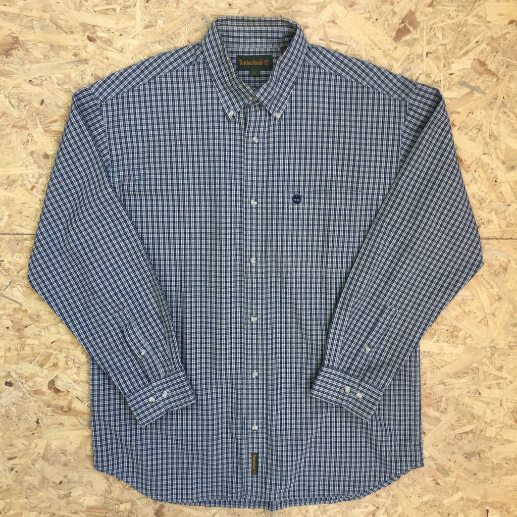 Vintage Long Sleeved Timberland Checked Shirt - L