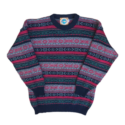 Carnet De Vol Pattered Crew Neck Sweatshirt - XL