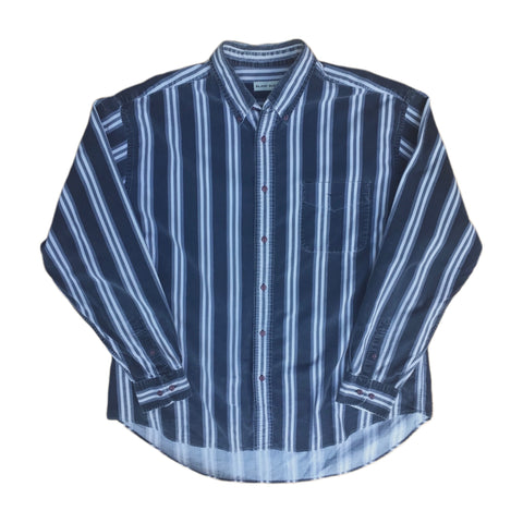 Long Sleeved Striped Crew Neck T-Shirt - XXL