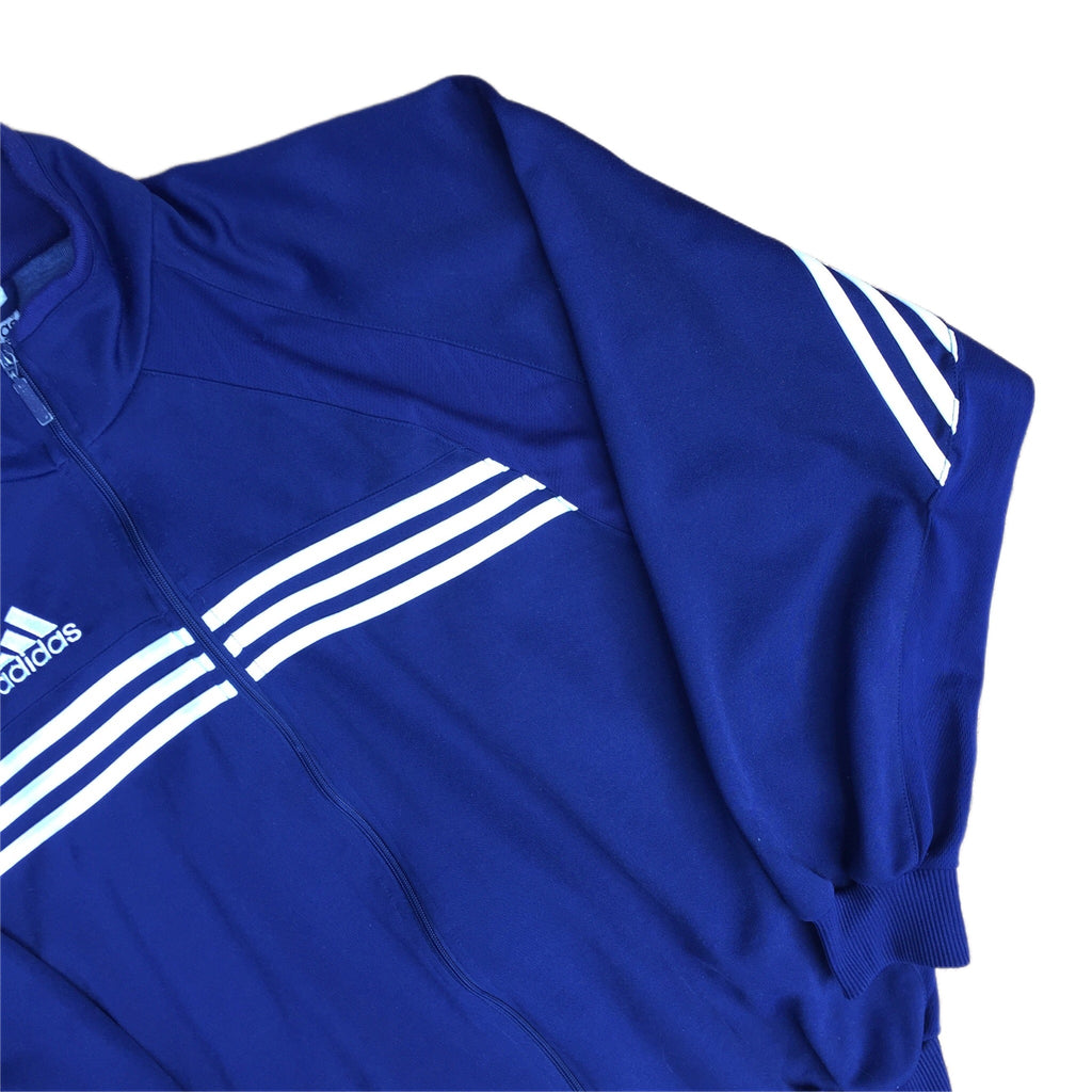 Adidas Zip Up Navy Blue Track Jacket - L