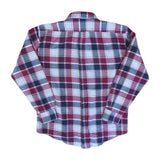 Button Down Collar Long Sleeved Checked Shirt - L