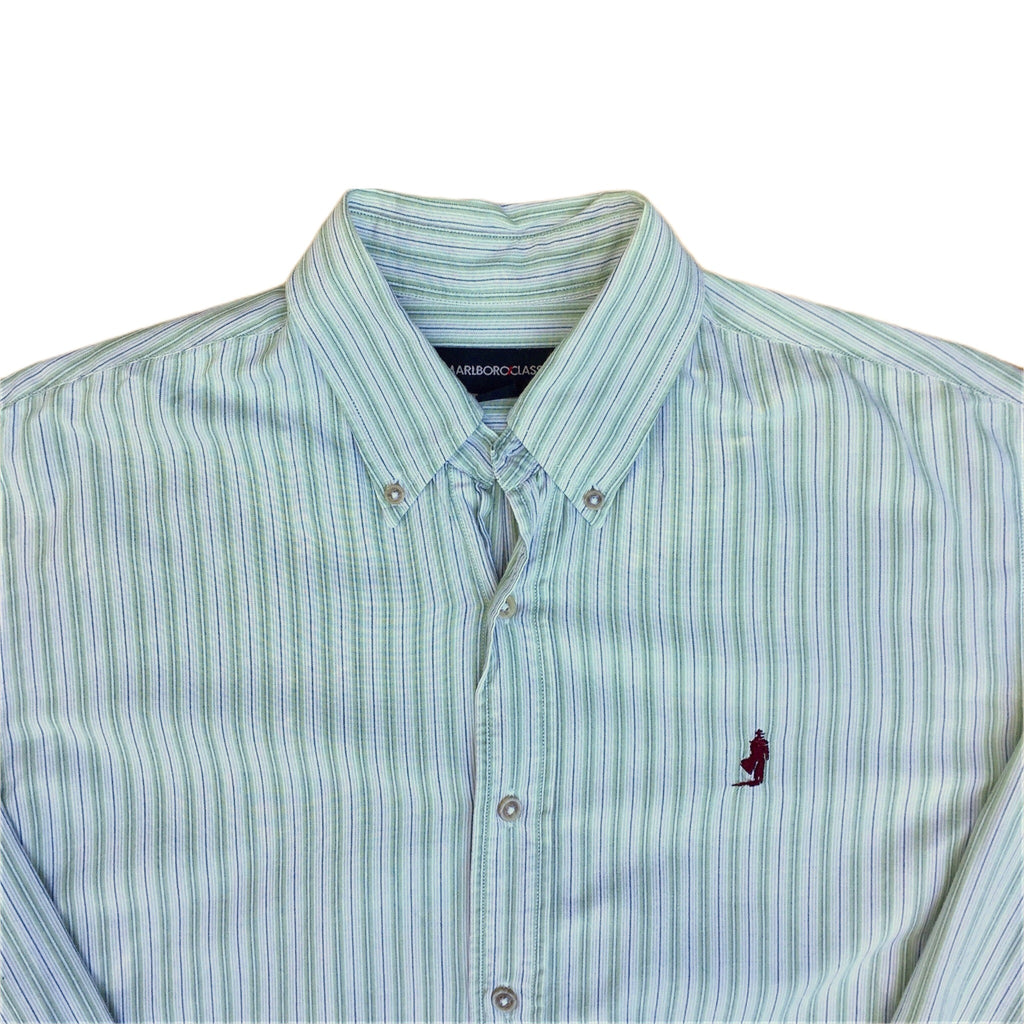 Marlboro Classics Long Sleeved Striped Shirt - M