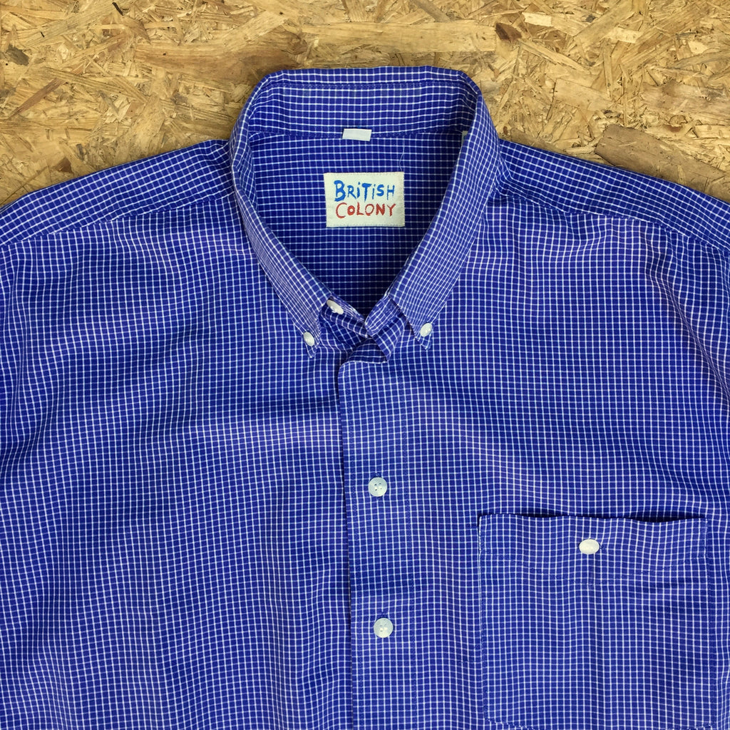 Short Sleeved Gingham Checked Shirt - L