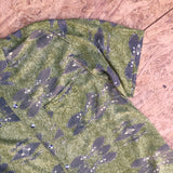 Short Sleeved Green Patterned Shirt - XL