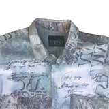 Short Sleeved Village Print Shirt - L