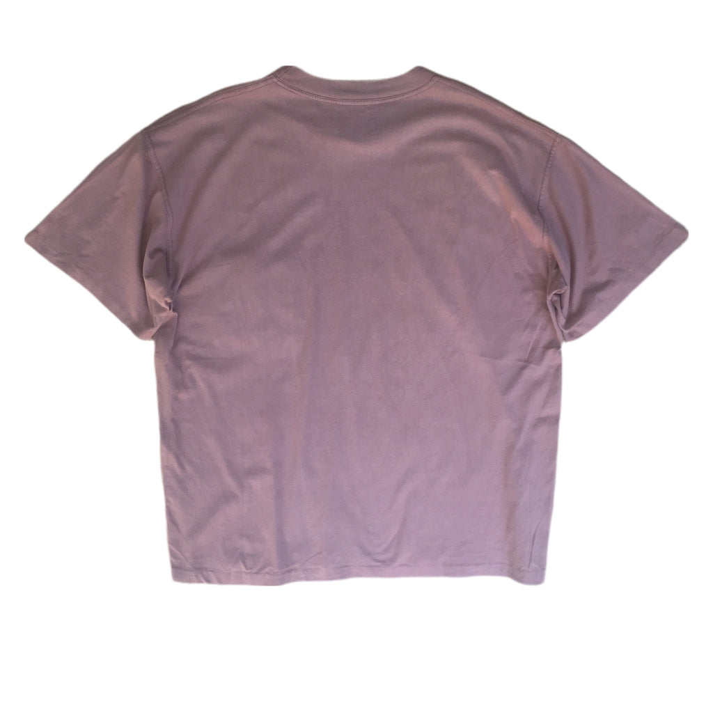 Crew Neck Abstract Pocket Stitch T-Shirt - L