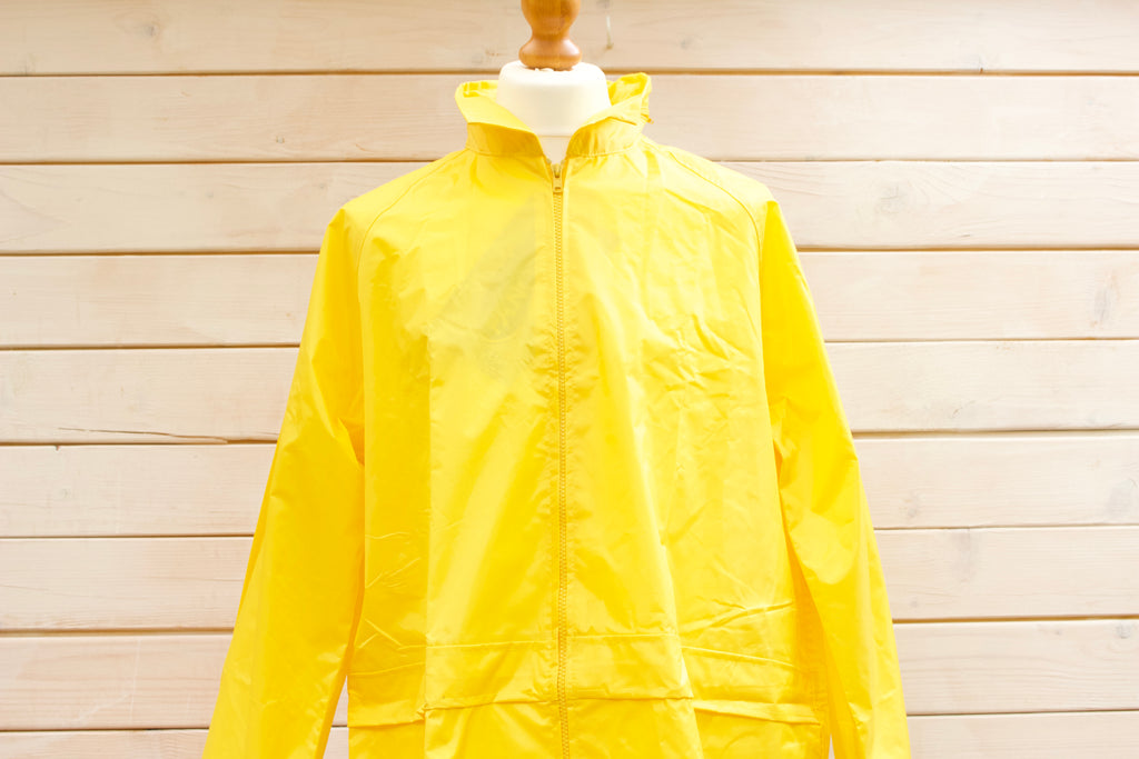 Vintage Yellow Fishermans Rain Jacket