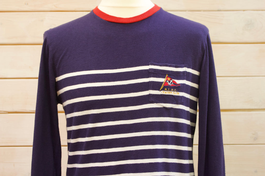 Vintage Ralph Lauren R.L.P.C Yacht Club Long Sleeved Striped Crew Neck