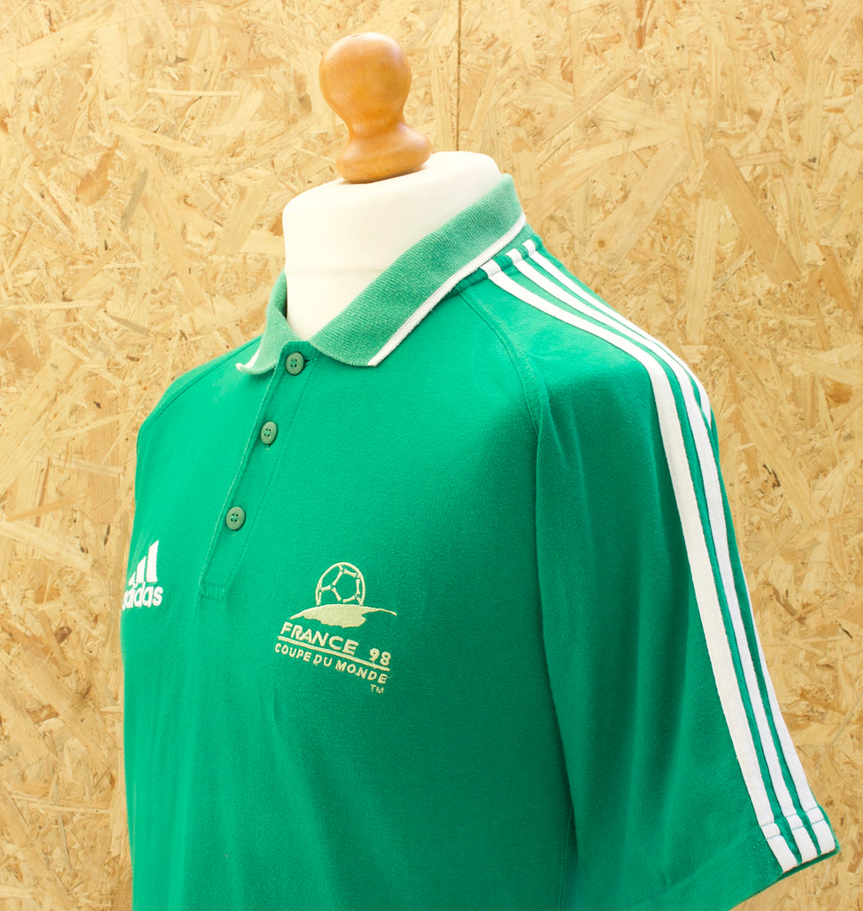 Retro France 98 Adidas Polo Shirt - S