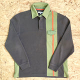 Vintage Long Sleeved Polo Sweatshirt - M