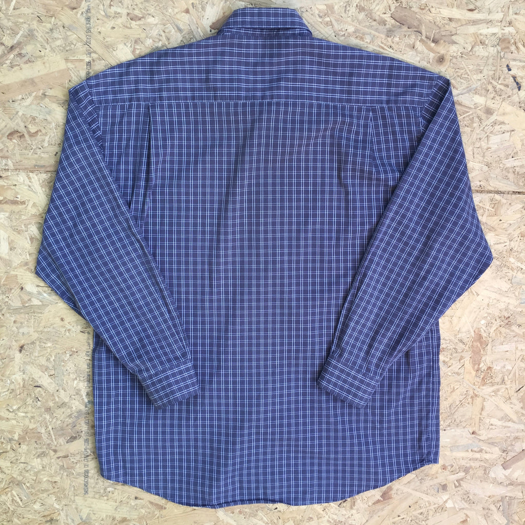 Vintage Checked Long Sleeved Shirt - L