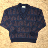 Vintage Deep V-Neck Sweatshirt - XL