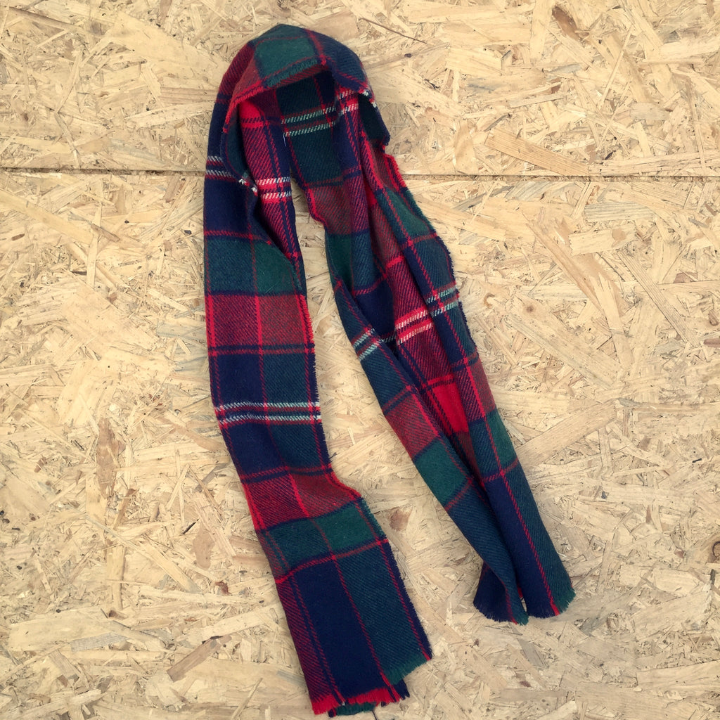 Vintage Checked Scarf - ONE SIZE