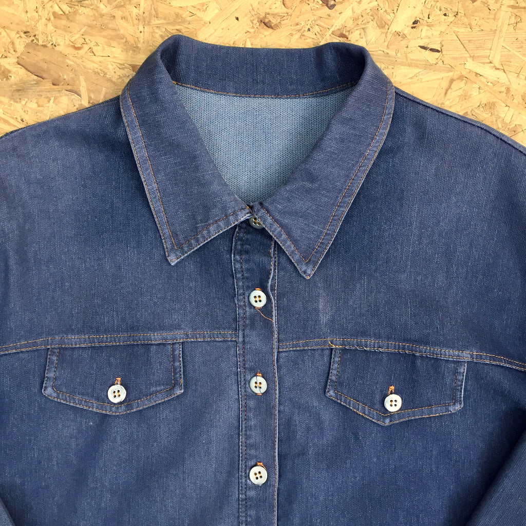 Vintage Long Sleeved Chambray Shirt - L
