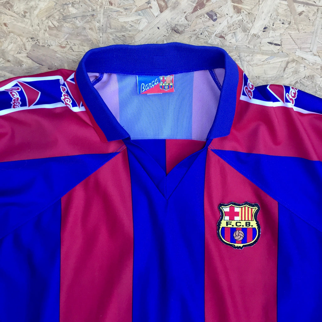 Retro Kappa Futbol Club Barcelona 1997-98 Home Shirt - FIGO 7 - XXL