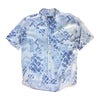 Short Sleeved Abstract Print Shirt - L